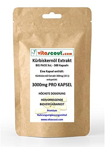 500 cápsulas de aceite de semillas de calabaza, extracto de semillas de...