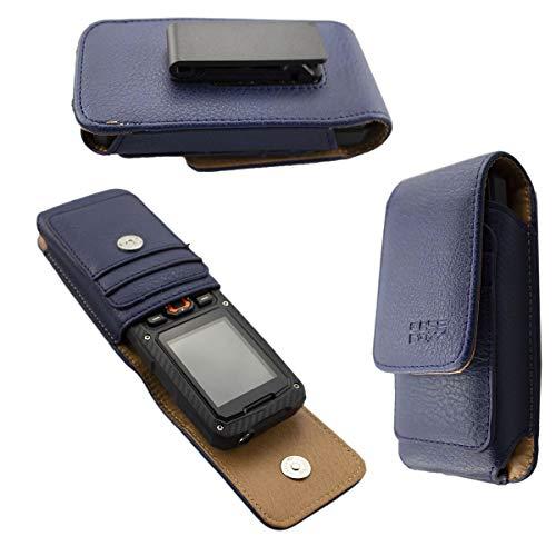caseroxx Handy Tasche Outdoor Tasche für Cyrus cm 8, mit drehbarem Gürtelclip in blau