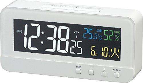 MAG(マグ) 目覚まし時計 電波 デジタル カラーハーブ 温度 湿度 カレンダー表示 ホワイト T-684WH