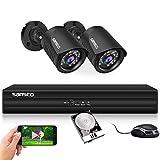 SANSCO Smart Home 1080p CCTV Camera System, 4CH DVR Recorder with 1TB Internal