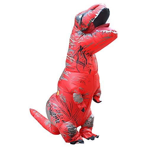 Asitlf Disfraz de Disfraz de Velociraptor Inflable de Fantasy para nio, Cosplay de Fiesta de Halloween-D