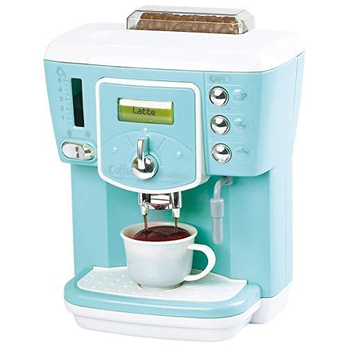 PlayGo Delicious Coffee Maker Machine Kids Children Pretend Play Activity Maker Toy – Kitchen Gifts Toys Set, Black, Red, White (3149)