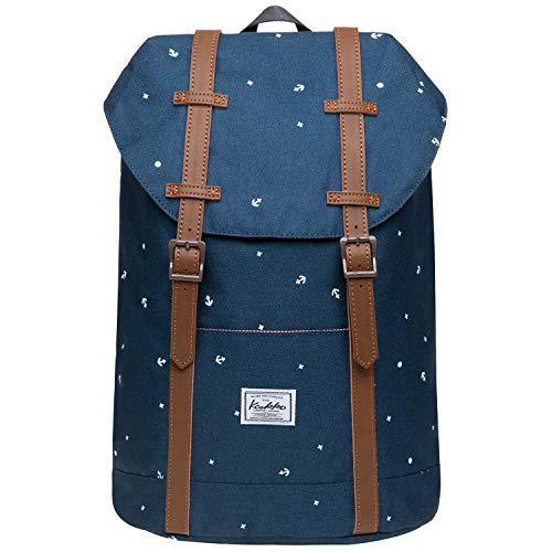 KAUKKO Rucksack Klein Damen Herren Schön und Praktisch Mini Daypack mit Laptopfach für 10