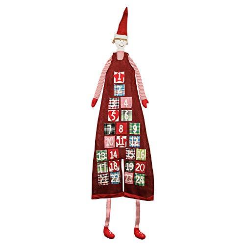 XXL Adventskalender zum Befüllen im Jungen Design zum Aufhängen Weihnachten, Weihnachtskalender DIY von pajoma