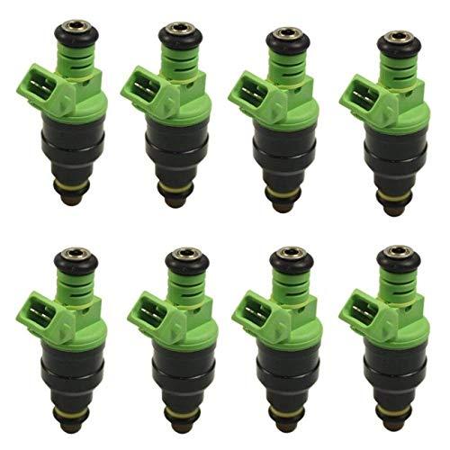 ALAVENTE 4 Holes Fuel Injectors Nozzle Kit For Chevy Camaro Corvette Impala GM LT1 LS1 LS6 SOHC DOHC EV1 Ford F150 F250 F350 E150 E250 E350 5.0L 4.6L 5.4L 6.8L V8 0280155968-42Lb/hr 440CC