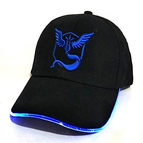 DGFB Neue Led-Licht Pokemon Gehen Cap Hut Team Valor Team Instinct Pokemon Baseball Cap Für Frauen Herren Ausgestattet Hüte Im Dunkeln Leuchten