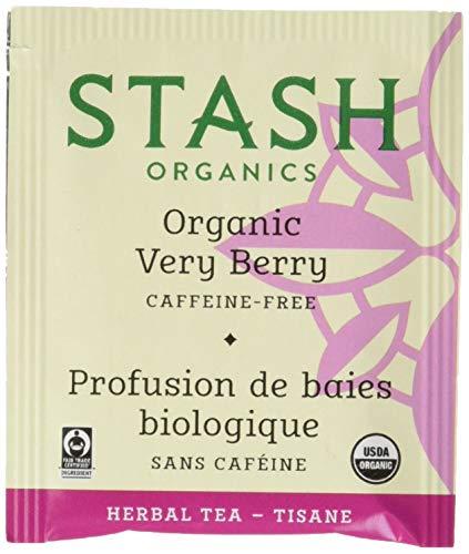 Stash Tea Organic Very Berry Herbal Tea 100 Count Tea Bags in Foil (Packaging May Vary) Individual Herbal Tea Bags for Use in Teapots Mugs or Cups, Brew Hot Tea or Iced Tea