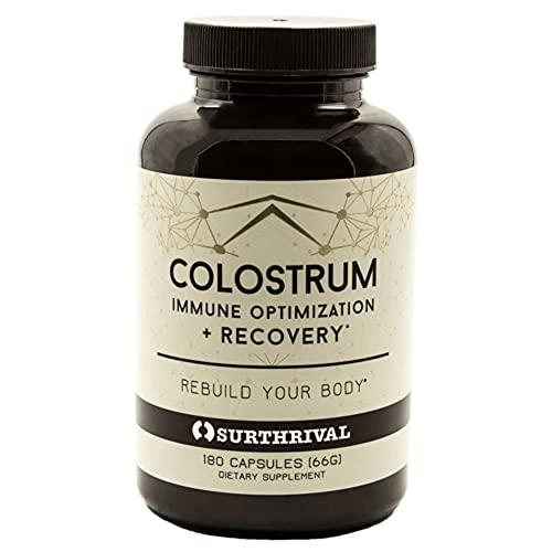 Surthrival: Colostrum Powder Capsules (180 Count),...