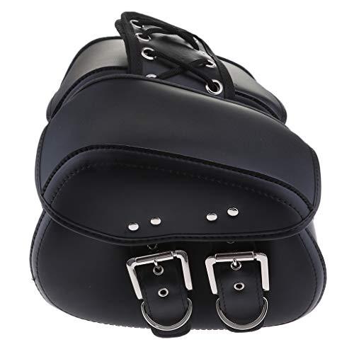MagiDeal Bolsa de Sillín con Brazo Oscilante Negro para Motocicleta, Bolsas, para Harley Yamaha