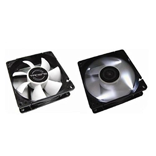 Tacens Aura 12cm - Ventilador de PC (Ventilador, Carcasa del Ordenador, 12 cm, Negro, Color Blanco, 2.28W, 0.19A)