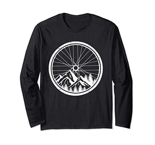Mountainbike-Reifen Natur Radfahren Outdoor Biking Biker Langarmshirt