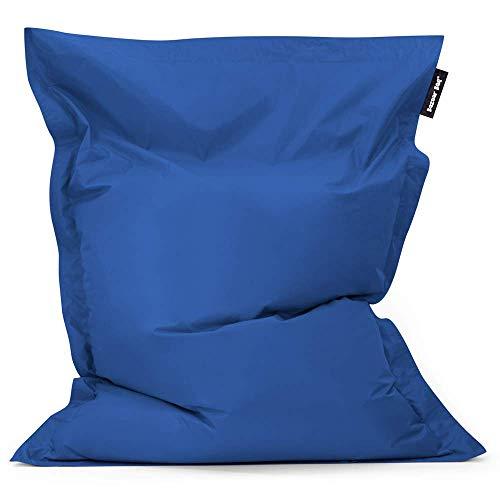 Bazaar Bag - Giant Bean Bag Chair, 180cm x 140cm, Large Indoor Living Room Gamer Bean Bags, Outdoor Water Resistant Garden Floor Cushion Lounger (Blue)