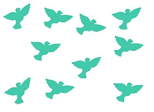 Miniblings 10x Transfert Tissu 26mm Aspect Velours Patch d'oiseau Colombe I Patches à Repasser Repassage, Color:türkis