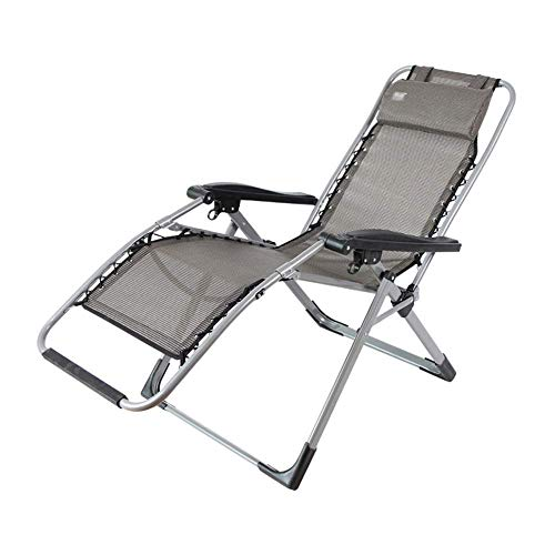 SBDLXY Folding Reclining Chair Portable Multi-Purpose Deck Chairs for Patio Terrace Sun Beach Deck Chair Indoor Leisure Nap Lazy Lounge Chair (90-168 °