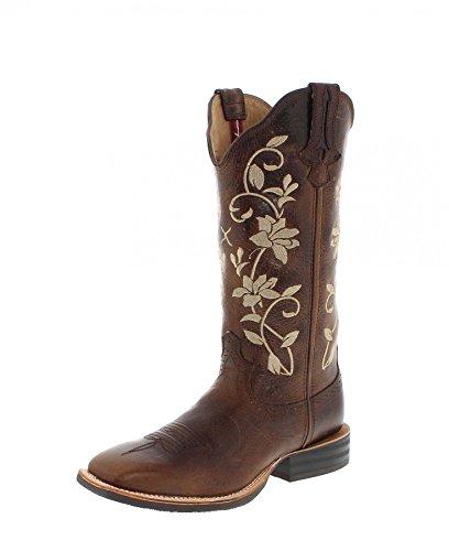 Twisted X Boots Stiefel 1790 Ruff Stock Braun Damen Westernreitstiefel (38, Bomber)