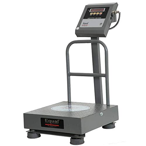 EQUAL Digital Weighing Scale, EIWS - 22, 120 Kg, Front & Back Red LED Double Display, MS Platform