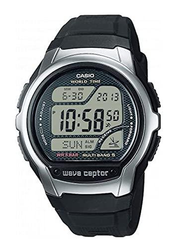 Casio Collection WV-58R-1AEF - Reloj Digital, radiocontrolado con Correa de Resina Negra.