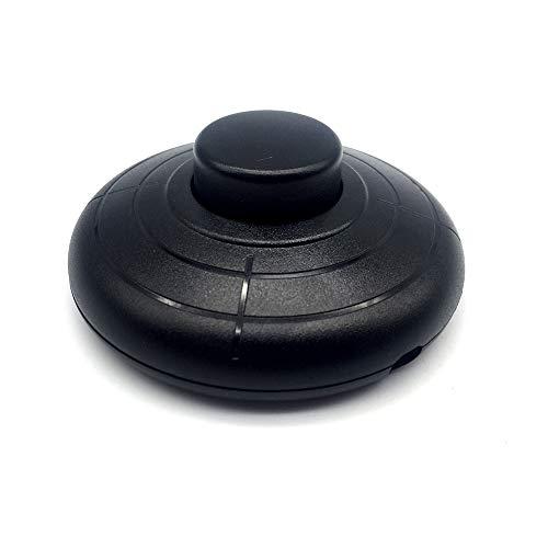 FUJIE 1 Pcs Interruptor Pie Redondo Soporte Pedal