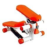 KALINU Mini Stepper, máquina de paso, para el hogar, silencioso, equipo de fitness con bandas de resistencia, apto para sala de estar, oficina, gimnasio, Unisex adulto, naranja, talla única