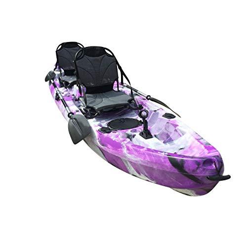 Cambridge Kayaks ES, Sun Fish TÁNDEM SÓLO 2 + 1,PÚRPURA con Blanco, RIGIDO