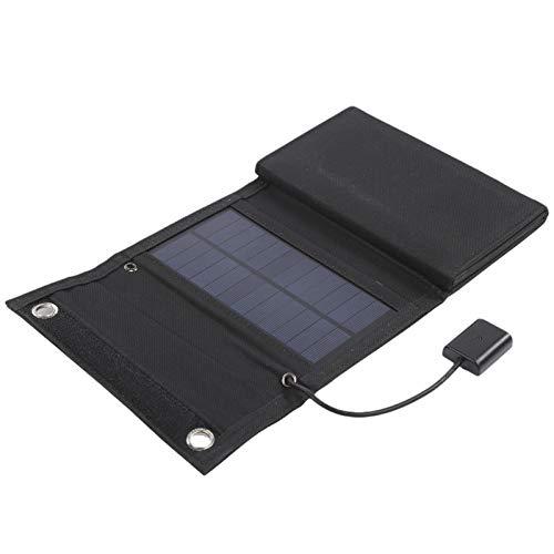 Mothinessto Bolsa Solar Diseño Plegable Fácil de Transportar Panel Solar Plegable Celda Solar para Consolas de Juegos portátiles para teléfonos móviles
