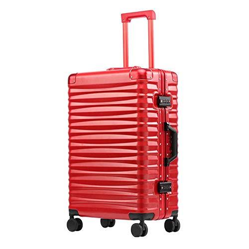 N\C Maleta de 4 ruedas de ajuste fino universal marco de aluminio ligero equipaje de mano TSA Lock Boarding Maleta comprobada contraseña
