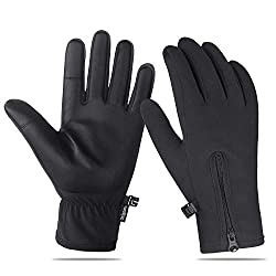 Acdyion Damen Echt Leder Handschuhe Touchscreen Winterhandschuhe Echtleder Kaschmirfutter Autofahren Outdoor Winddicht Wasserdicht