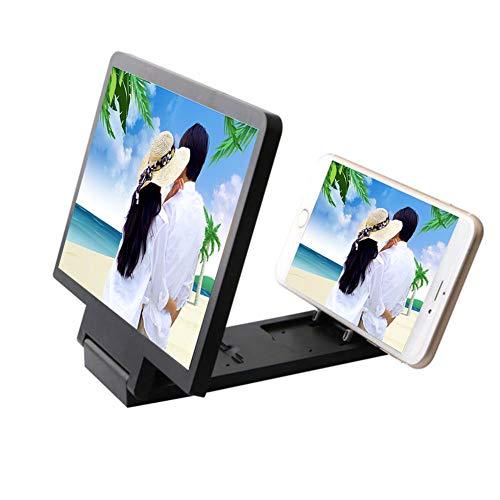 YOLE Mobile Staffa Lazy Phone, Pieghevole Pigro Staffa 8,2 Pollici HD 3D Amplificatore Pieghevole Creative Mobile Phone Staffa Anti-UV di radiazione Anti-affaticamento,Black