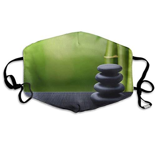 Spa-Dekoration Asiatischer Zen-Gartenstein-Bambus-Zen,Gesichtsdekorationen,Mundschutz,Mouth Scarf,Gesichtsschutzhülle,Staubschutzhülle,Staubschutz