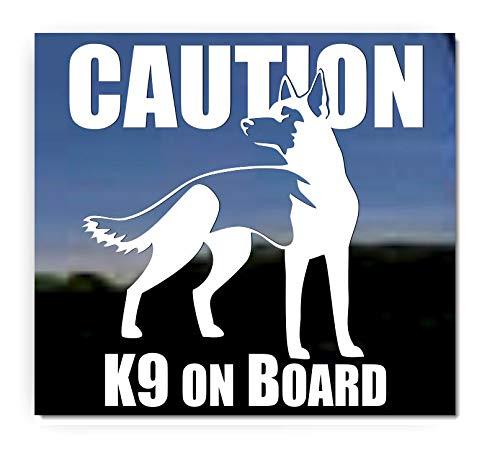 Caution K9 Onboard ~ German Shepherd Dog Vinyl Window Decal Sticker