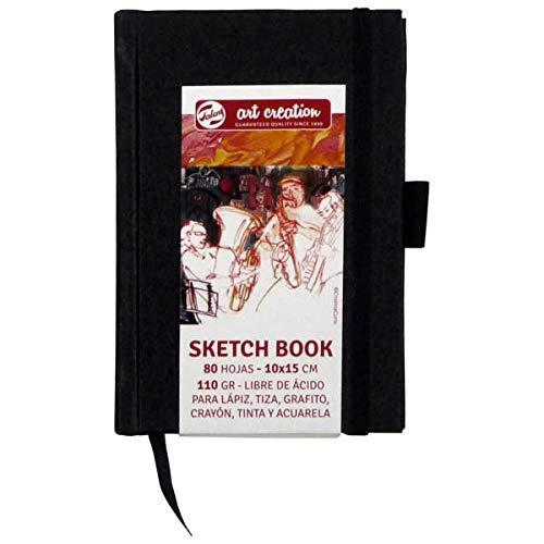 Talens Art Creation Sketch Book Negro 10x15 cm 110 g