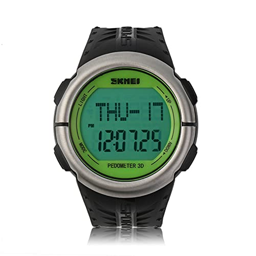 歩数計心拍数モニターカロリーカウンターデジタル時計フィットネス男性用女性用屋外腕時計スポーツ時計