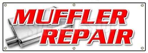 """72"""" Muffler Repair Banner Sign Brake Shop auto Repair Oil Changes Repair Cars"""