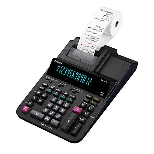 Casio Druckender Tischrechner DR-420RE, 12-stellig, 2-Farbdruck, Cost/Sell/Margin, Steuerberechnung, Netzbetrieb