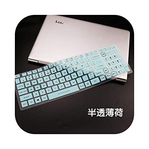 Housse de clavier en silicone pour ordinateur portable Acer Predator Helios 300 2019 PH317-53 Nitro 7 AN715-51 pour Acer Nitro 5 AN517-51 Blanc/bleu