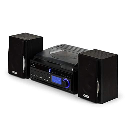 AUNA DS-2 - Chaîne stéréo, Compacte, Platine Vinyle,...