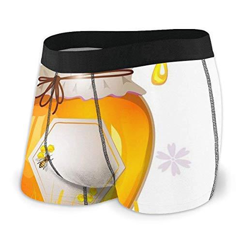 Lawenp Calzoncillo Tipo bóxer para Hombre Bee Sunflower Ultra Soft Ropa Interior para Hombre