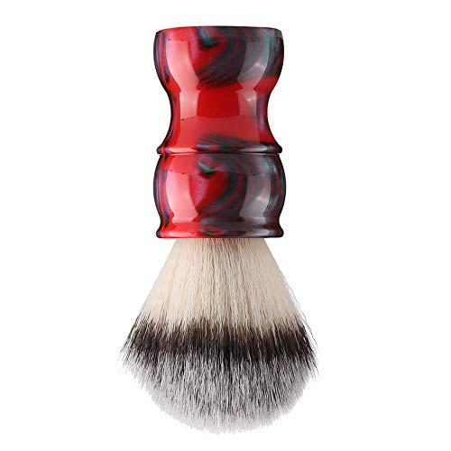 Brocha de afeitar, brocha de afeitar para hombres, herramientas de cuidado personal para el hogar de nailon de alta calidad para el cuidado personal(color rojo)