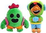 Detazhi Set di 2 Spike Green Cactus Leon Peluche Giocattoli Soft Peluched Dolls 23cm