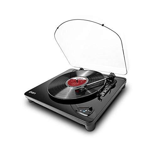 Toca-Discos Vinil Air LP Ion IT55 com Transmissão sem Fio e Conversão Digital – Bivolt, Preto, ION_