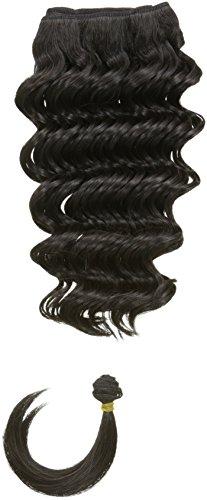 chear Français vague trame Extension de cheveux humains avec de mélange tissage, numéro 1b, noir, 35,6 cm