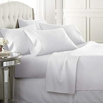 Danjor LinensTwinSize Bed Sheets Set - 1800 Series4 Piece Bedding Sheet & Pillowcases Sets w/ Deep Pockets - Fade Resistant & Machine Washable -White