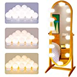Hollywood Style LED Vanity Lights, 22.6 ft LED Vanity Lights Kit with 14 Dimmable Bulbs, DIY Stick-on Lighting Fixture Strip for Makeup Vanity Table, Bathroom and Dressing Room Wall Mirror ( White)