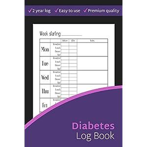 buy  Diabetes Log Book: 2-Year Blood Sugar Level ... Books