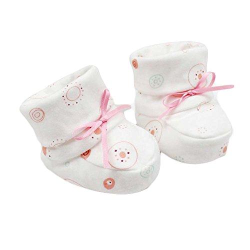 Blanc Double Couche Coton Sole Chaussures bébé mignon infantile Chaussures Garçon Fille Chaussures