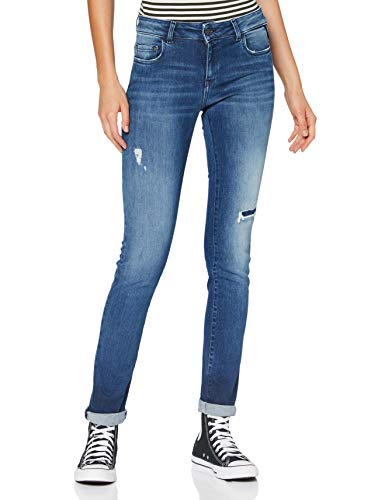 REPLAY FAABY Jeans, 009 Azul Medio, 24W x 30L para Mujer