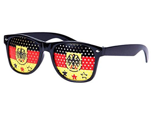 Alsino WM Lochbrille Pinehole Fanbrille Fussball Brille Länderbrille Gitterbrille Rasterbrille, wählen:V-1158 Deutschland