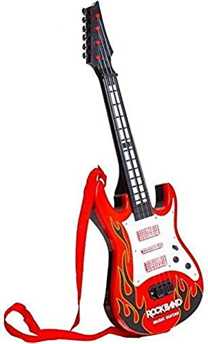 QUALITYZONE Rockband Musical Instrument Guitar Toy for Kids Boys Kids red