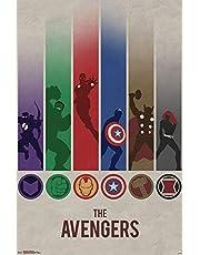 Marvel(マーベル) Avengers(アベンジャーズ) Minimalist Logo ポスター [並行輸入品]
