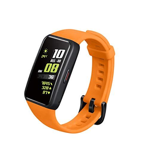SKYSE Pulsera de silicona de repuesto compatible con la correa de reloj generosa transpirable deportiva Honor 6